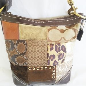 💖 Host Pick 💖Coach Leather Fabric Patchwork Bag